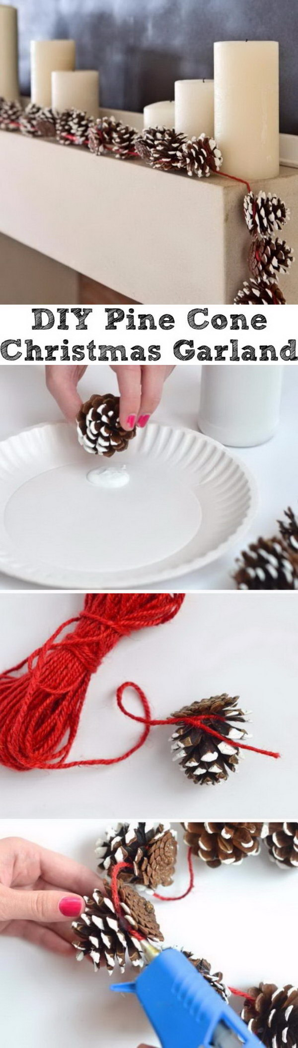 Pine Cone Christmas Garlands.