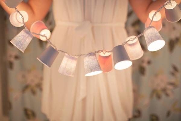 Paper Cup Lanterns Garland.