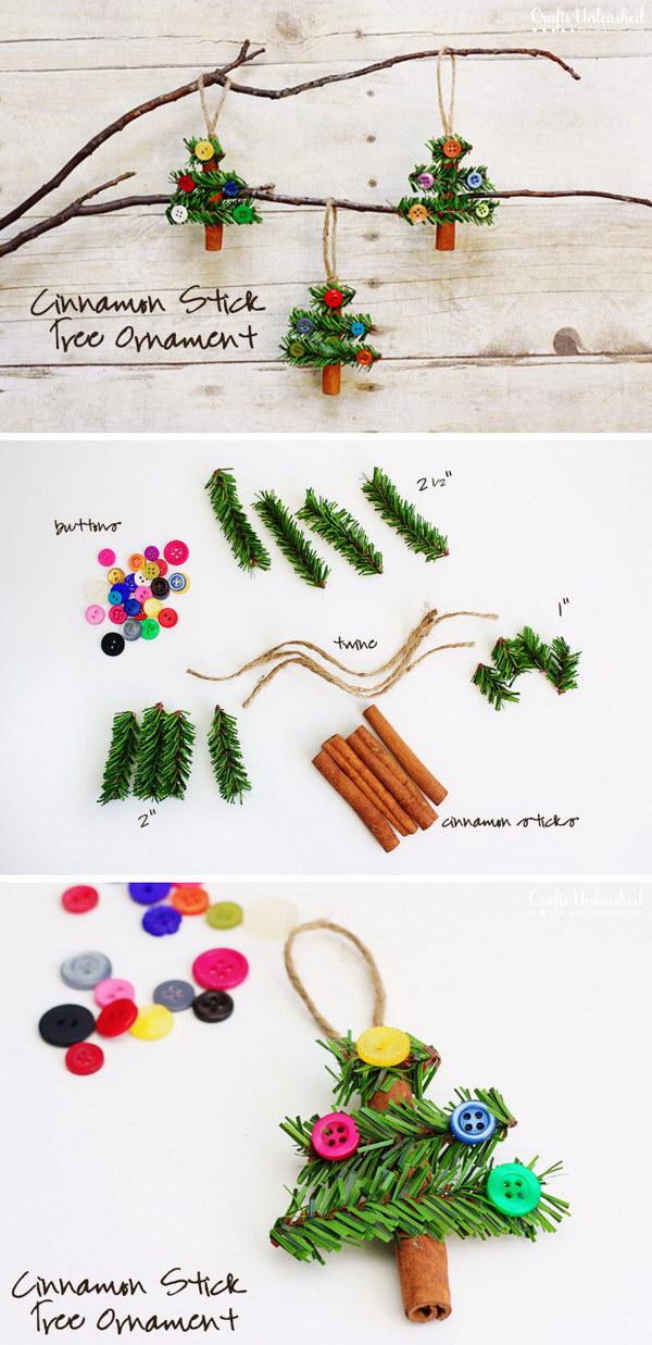 Cinnamon Stick Tree Ornaments.