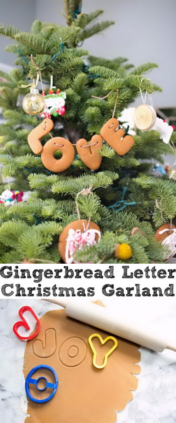 Gingerbread Letter Garland.