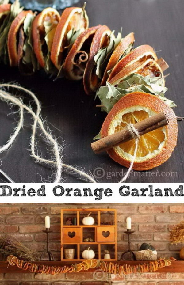 DIY Dried Orange Garland.