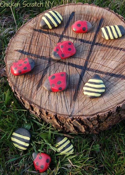 Ladybug and Bumble Bee Tic-Tac-Toe.