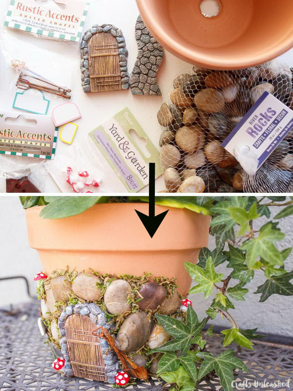 DIY Fairy House Planter Project.