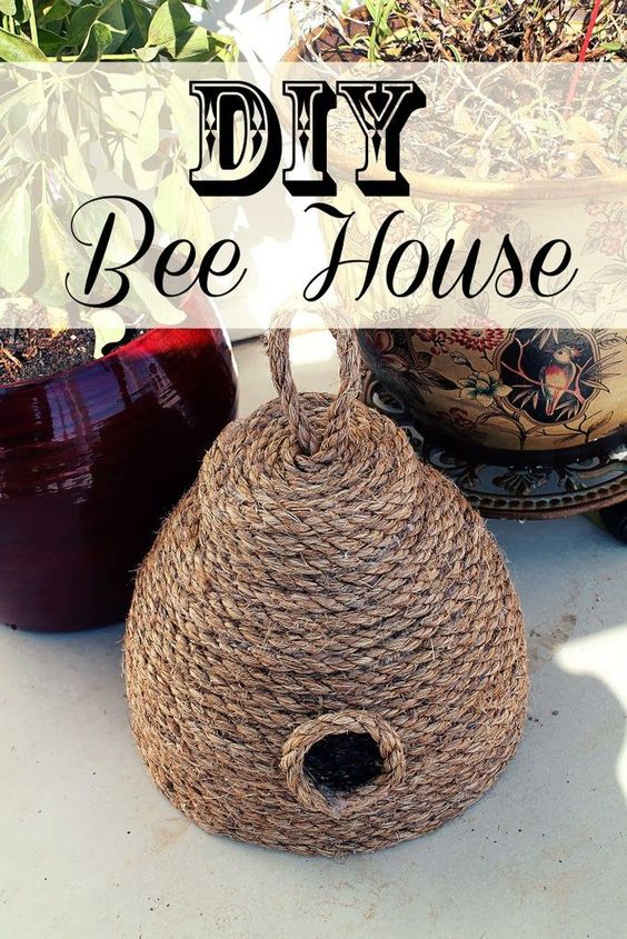 DIY Bee House for Your Spring Garden.