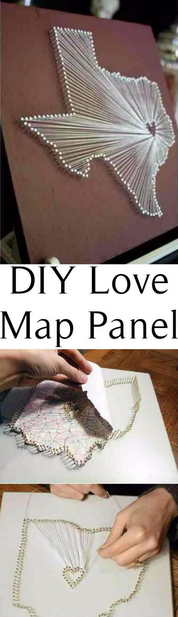 DIY Love Map Panel .