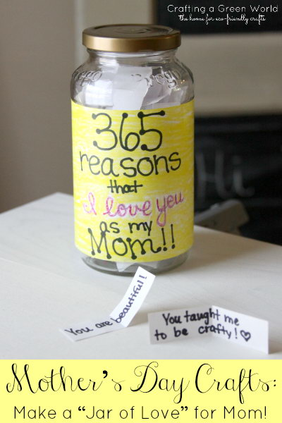 Jar of Love Craft for Mom.