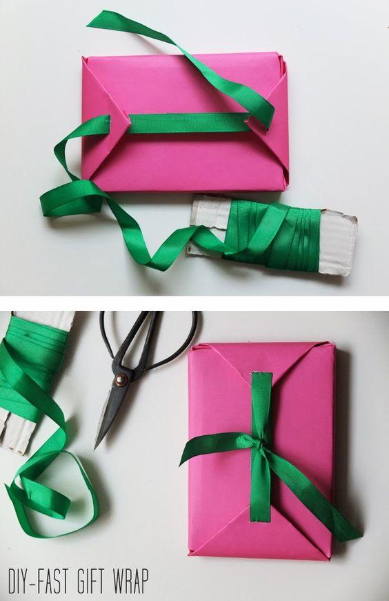 Fast DIY Gift Wrap.