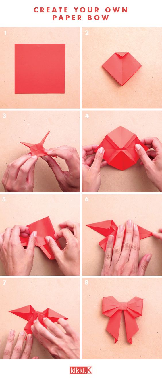 Decorate Your Gifts With This Gorgeous DIY Origami Paper Bow