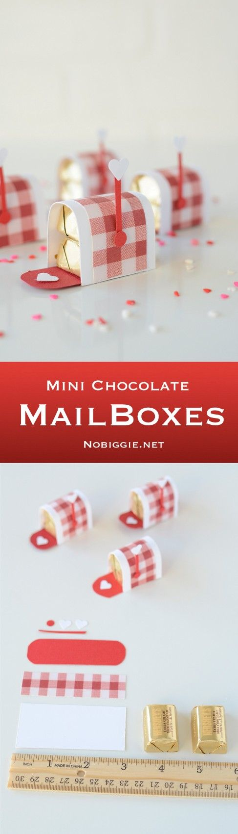 Mini Chocolate Mailboxes.