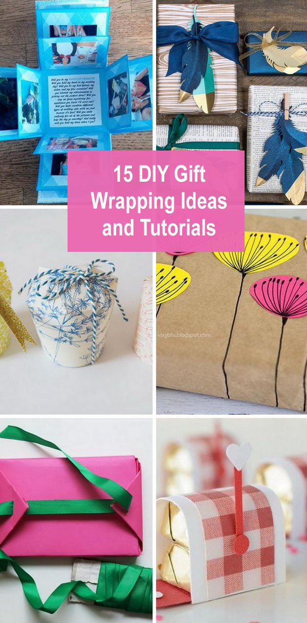 15 DIY Gift Wrapping Ideas And Tutorials.
