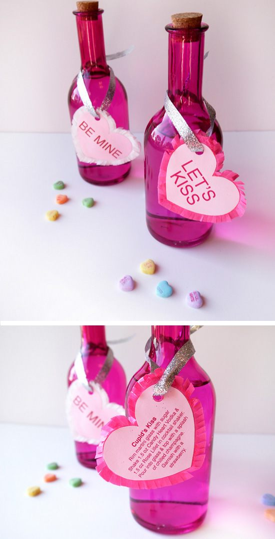 Conversation Heart Vodka & Cupids Kiss.