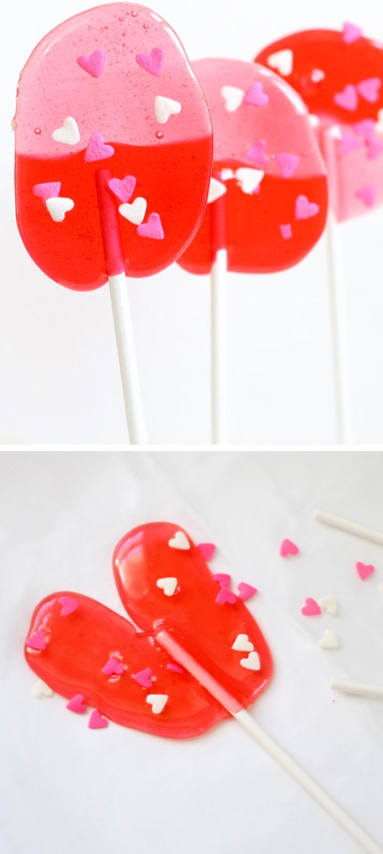 DIY Valentines Day Lollipops.