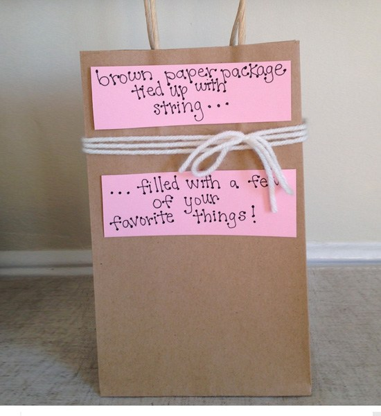 Brown Paper Package Tied Up With String....