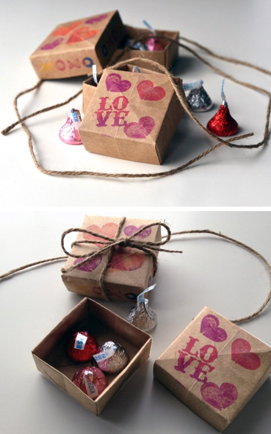 Origami Treat Boxes.