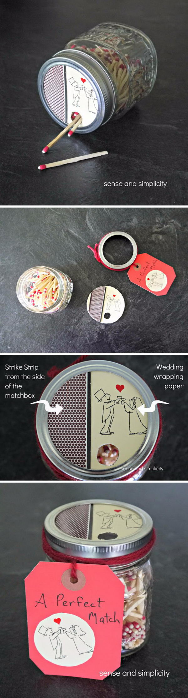 DIY Mason Jar Matchbox.