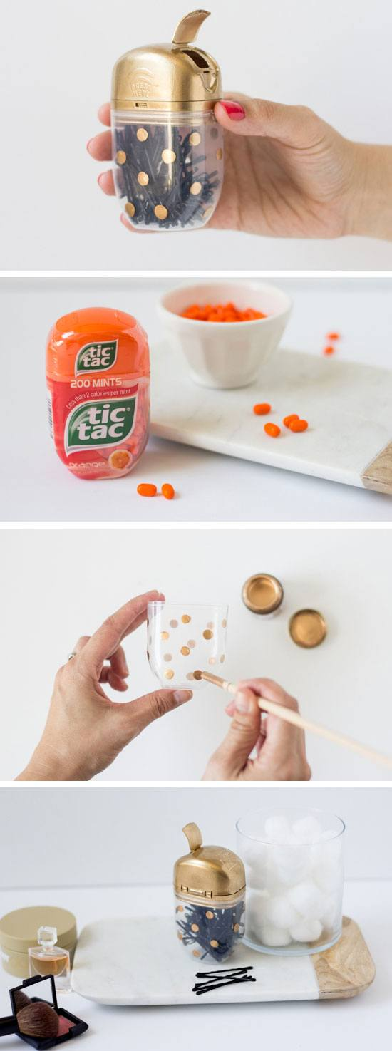 Diy Life Hacks Part - 26: DIY Tic Tac Bobby Pin Case