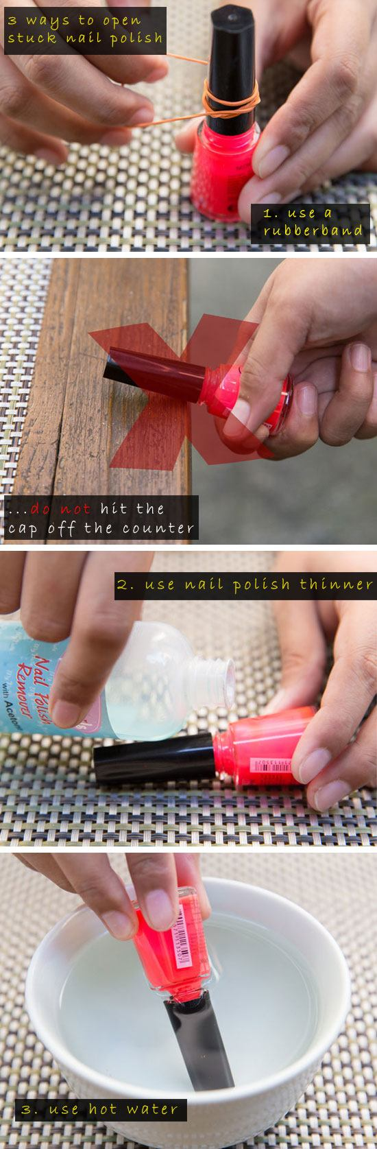 Easy Ways to Open a Stuck Bottle of Nail Polish.