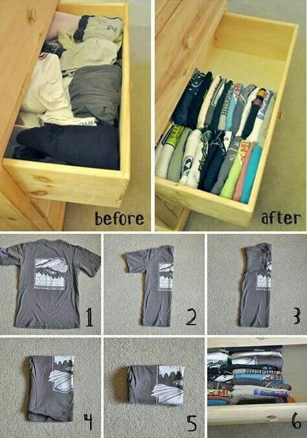 Fold Clothes for Better Storage.