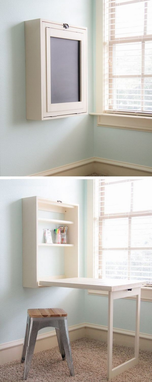 DIY Murphy Desk Perfect for a Small Space.