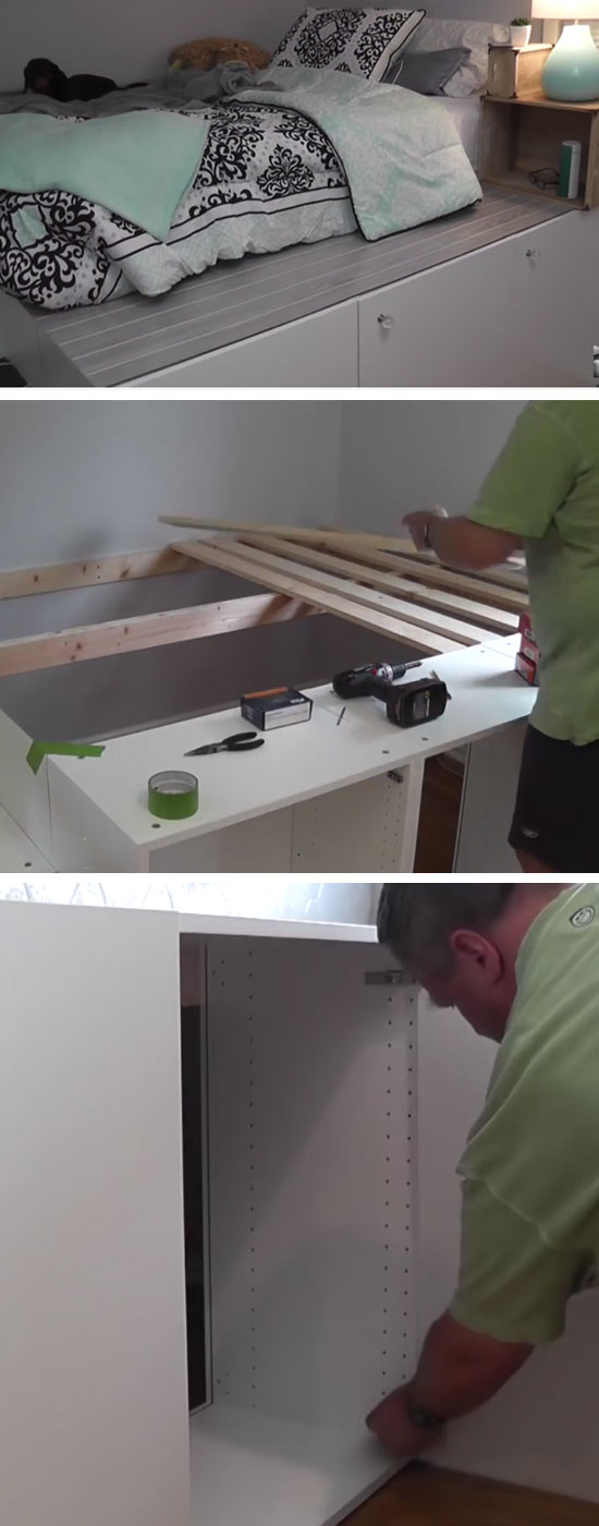 Platform Bed IKEA Hack.