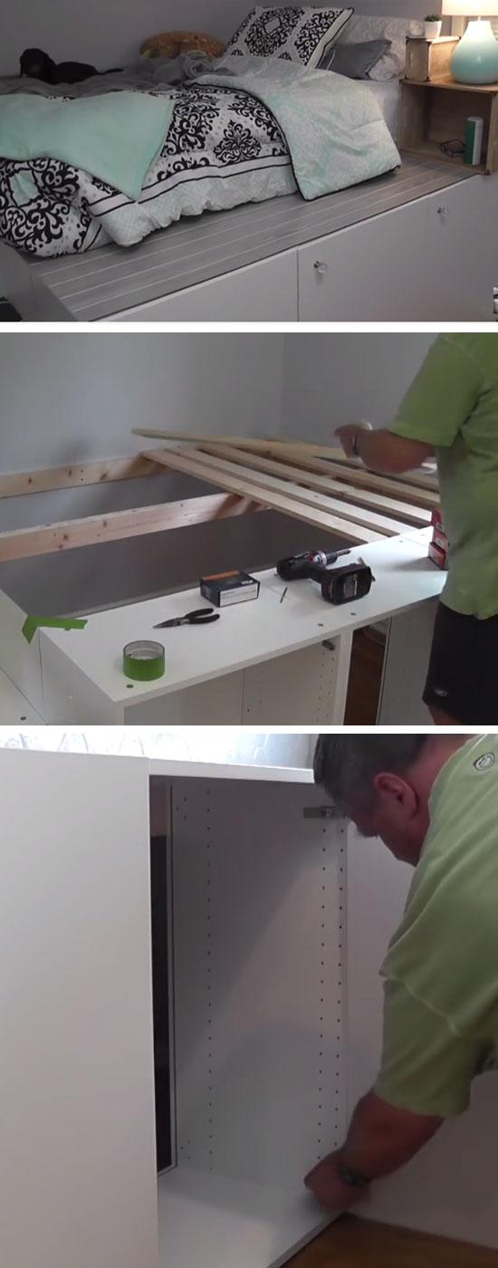 Platform Bed IKEA Hack.