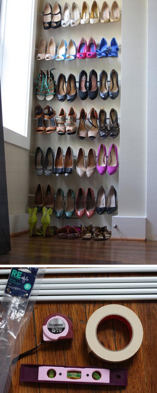 5 Minute Genius Shoe Storage.