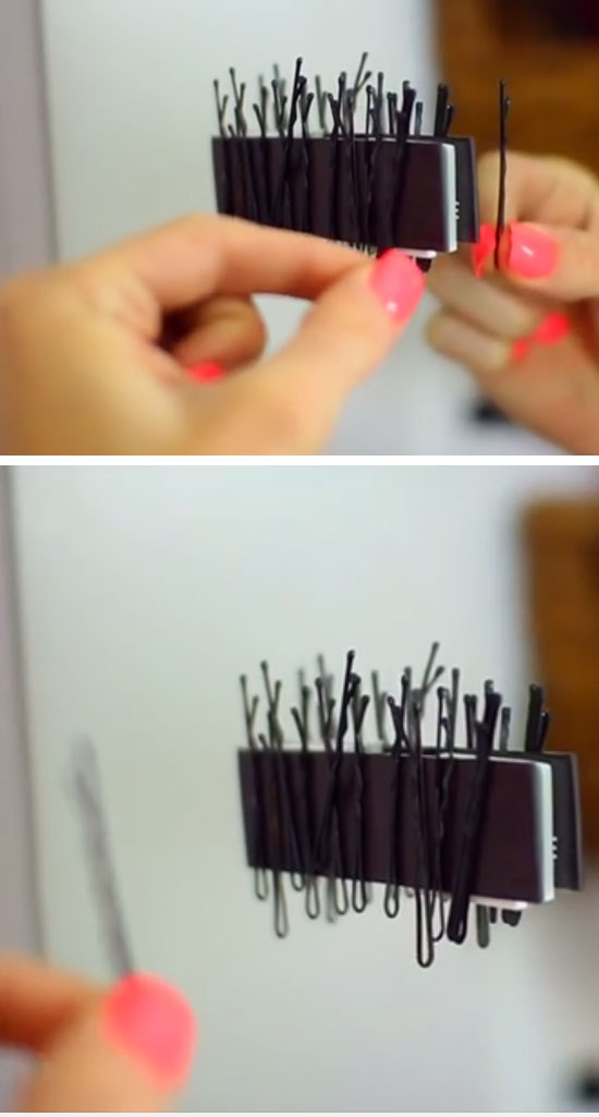 Bobby Pin Magnet Strip.