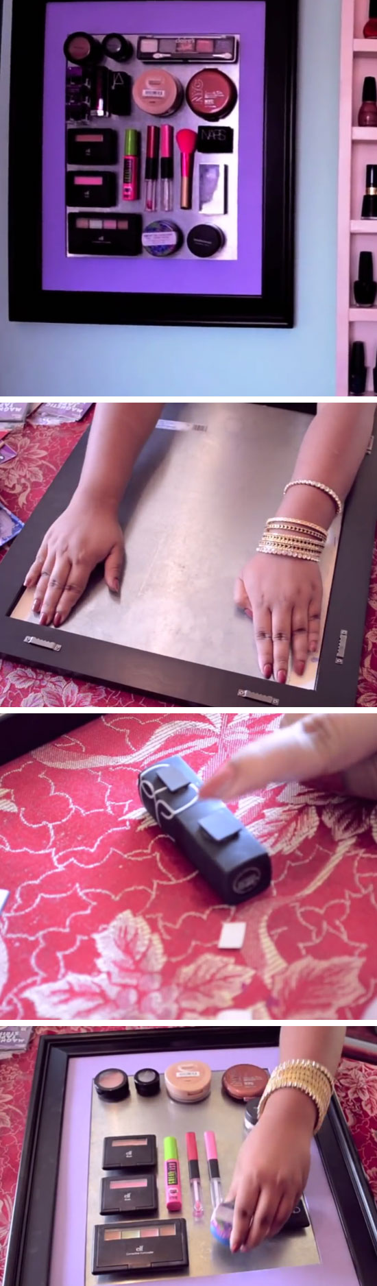 Makeup Magnet Board.