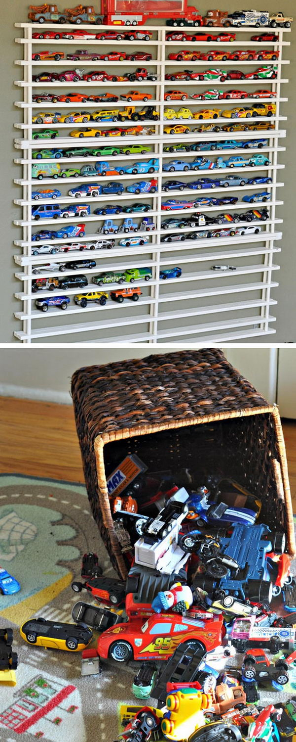 DIY Matchbox Car Garage.