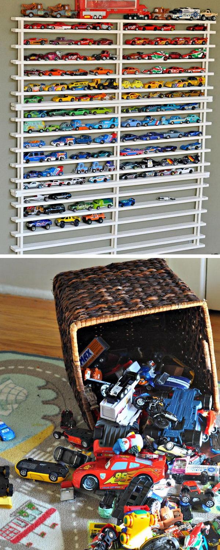 DIY Matchbox Car Garage.