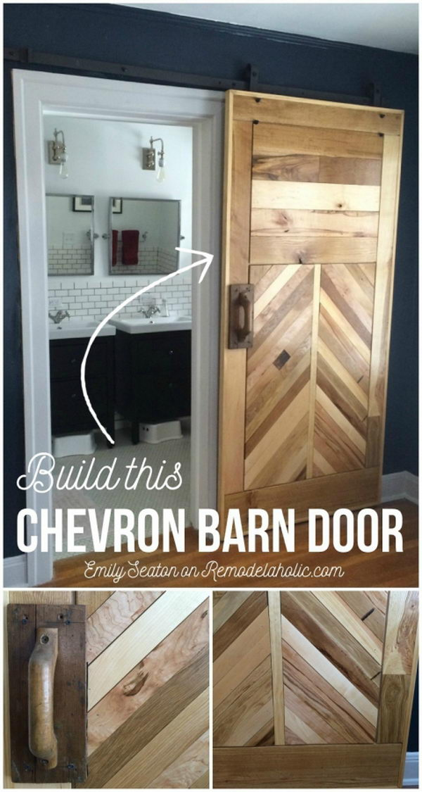 DIY Chevron Barn Door Tutorial.