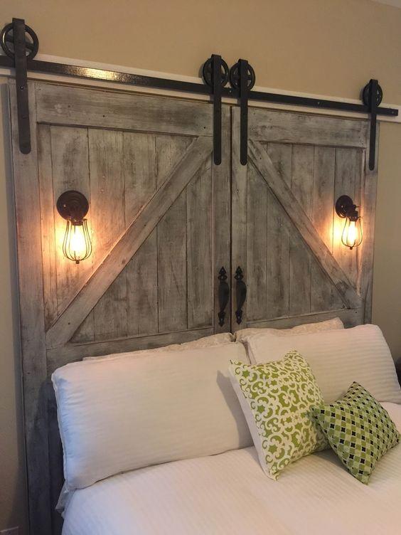 Barn Door Headboard.
