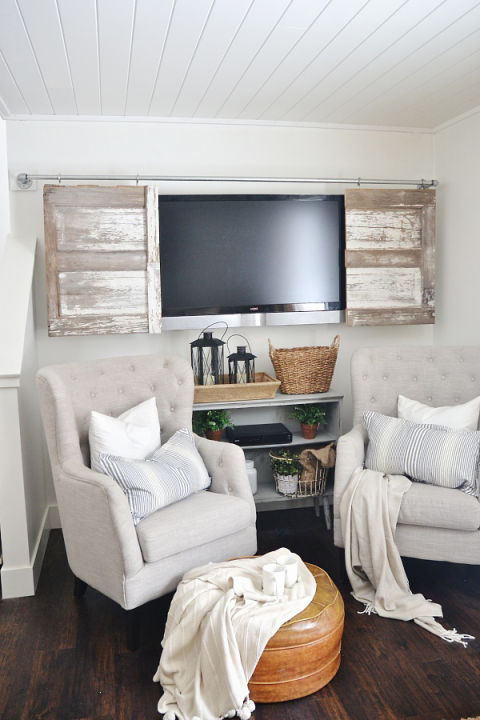 Barn Door TV Cover.