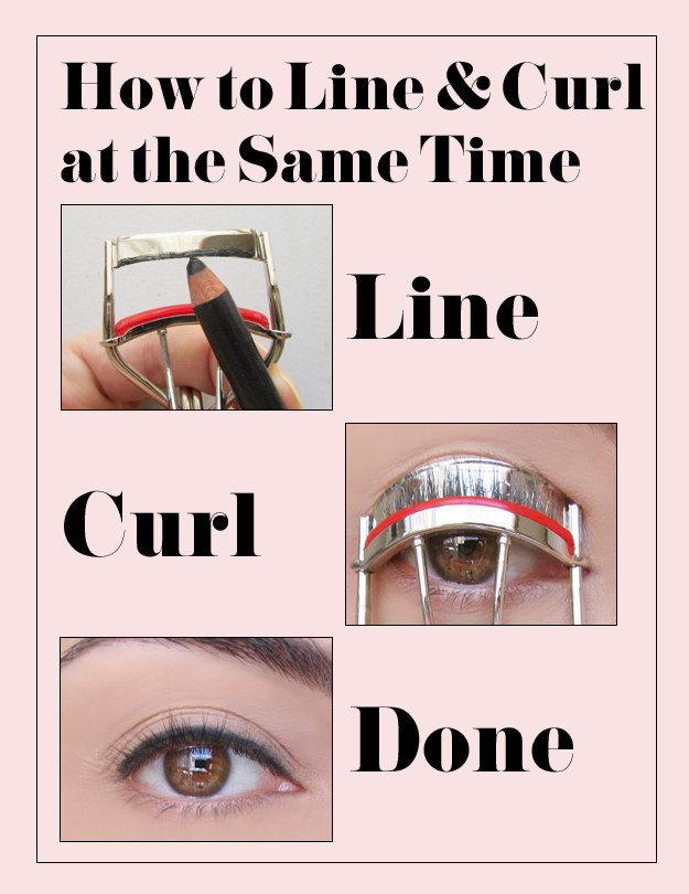 Use Your Lash Curler to Line and Curl at the Same Time.