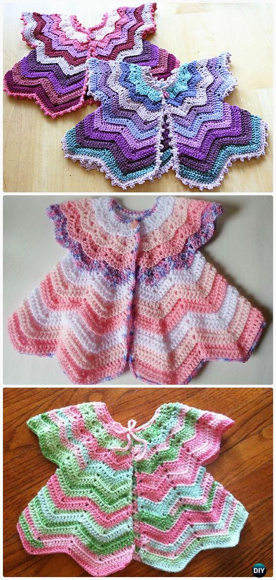 Crochet Kids Sweater Coat Free Patterns.