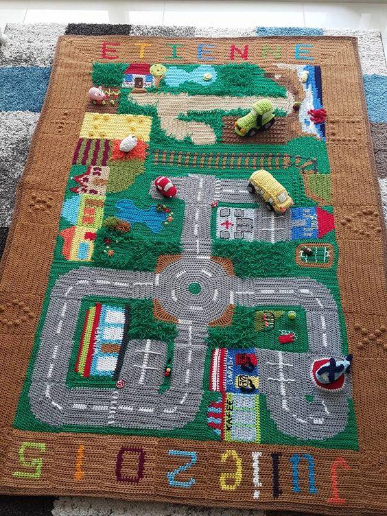 Crochet Road Play Mat CAL.