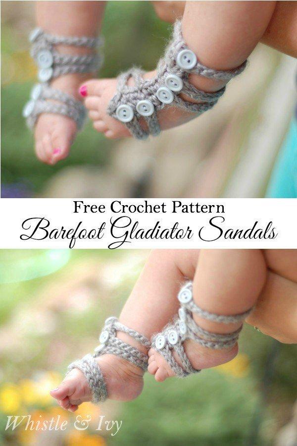 Free Pattern: Barefoot Gladiator Sandals.