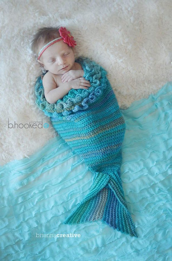Crochet Mermaid Tail for Baby.