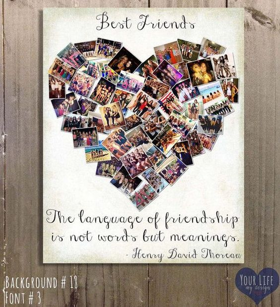 Photo Collage Gift for Best Friends.