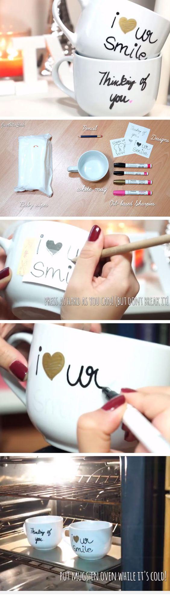 DIY Sharpie Mugs.