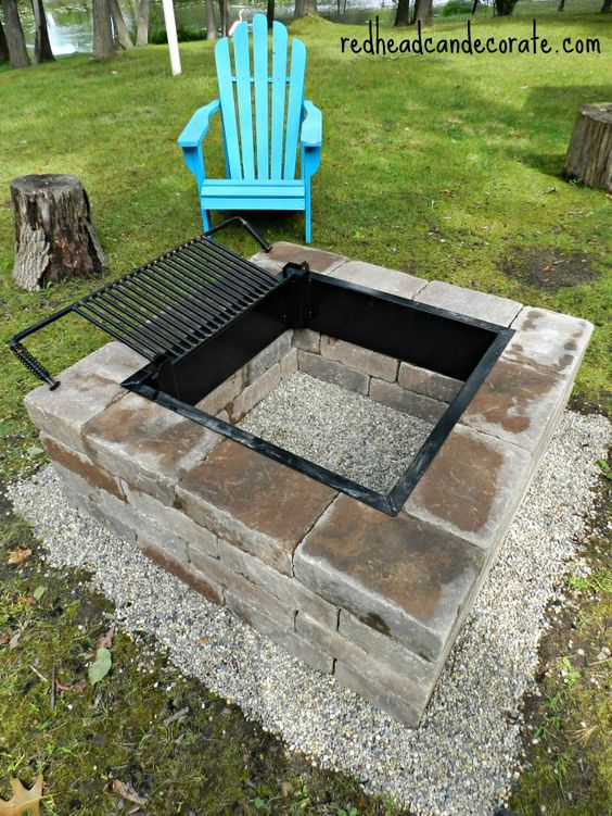 Easy DIY Fire Pit Kit with Grill.