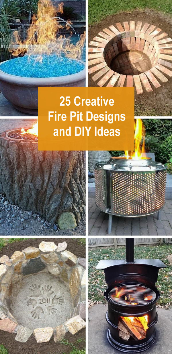 25 Creative Fire Pit Designs and DIY Ideas.