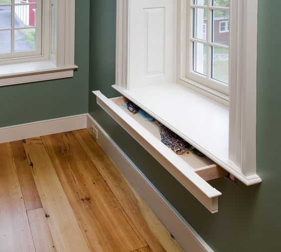 Window Sill Hidden Drawer.