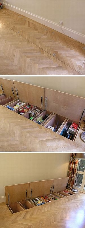 Clever Sub Floor Storage.