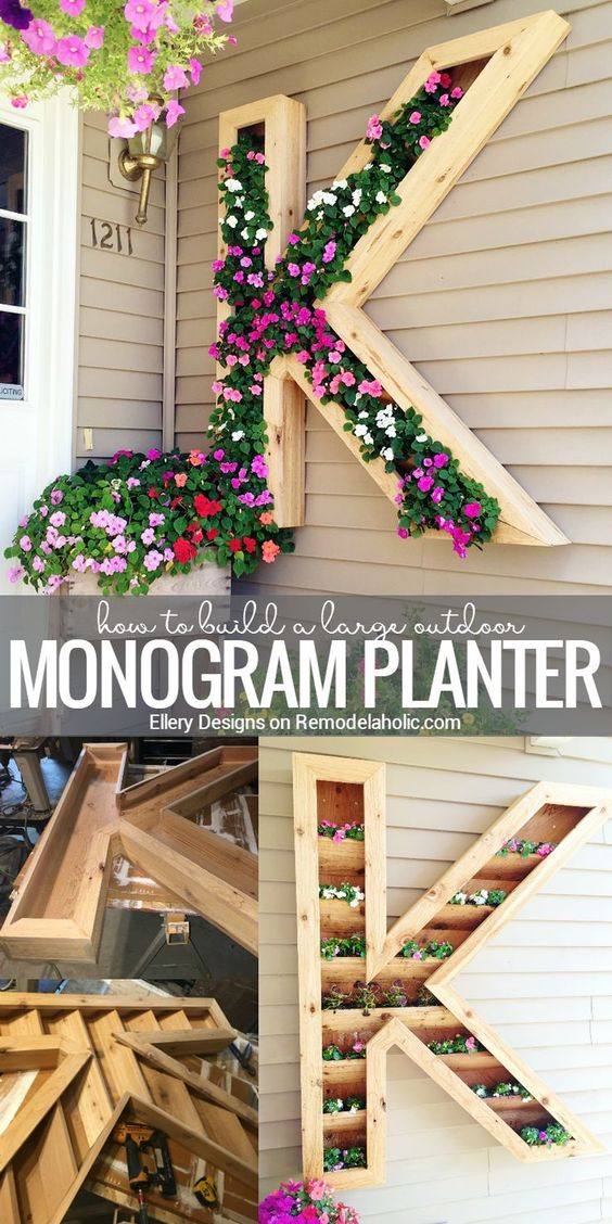 Add Some Spring Color to Your Front Porch With This Extra Large Monogram Planter.