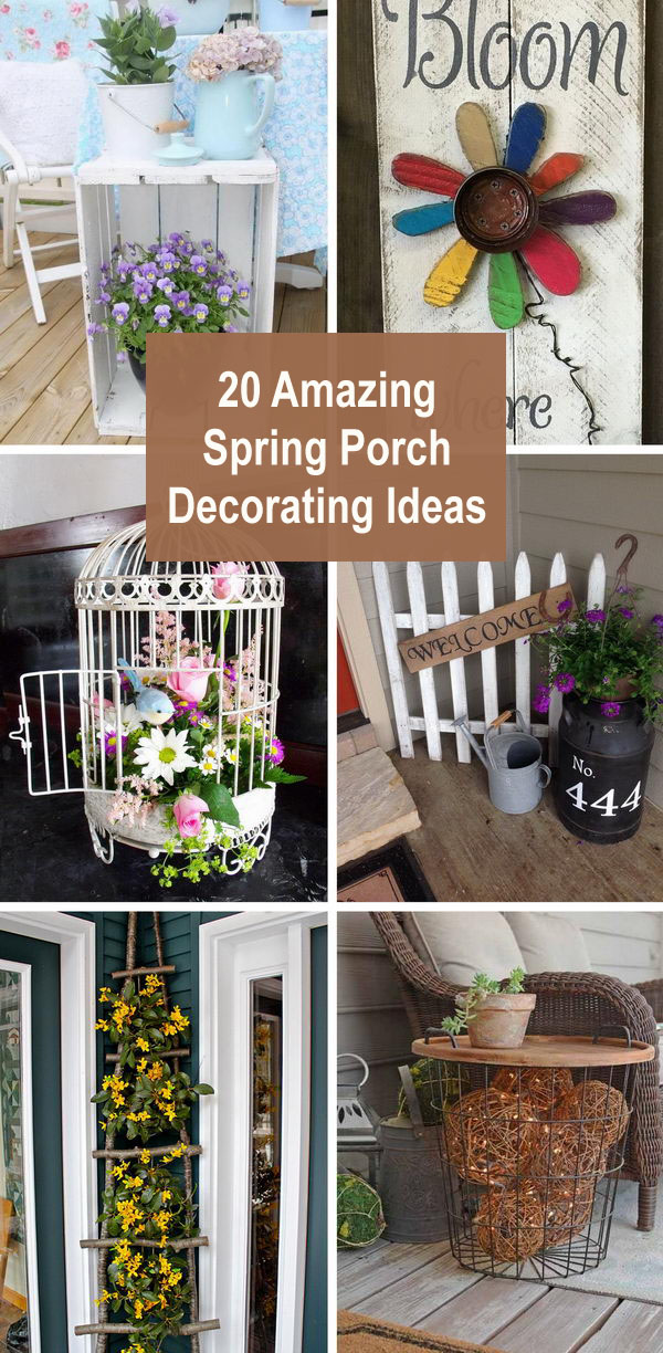 20 Amazing Spring Porch Decorating Ideas to Celebrate the Season.