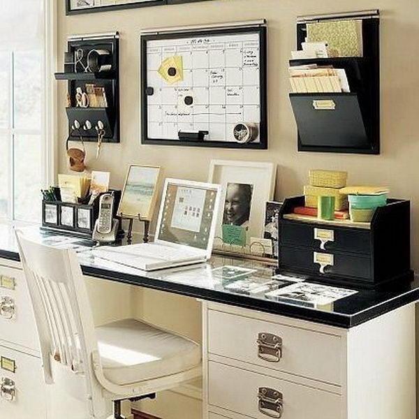25 effective home office organization ideas 2017 for Diy home office design ideas