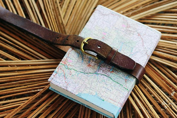 Belted Map-Covered Notebook