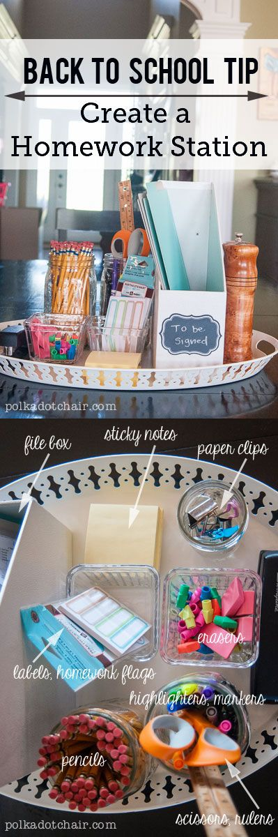 DIY Back to School Homework Station.