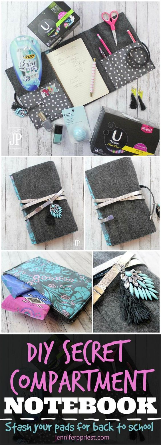 DIY Notebook Cover That Looks Like a Clutch Purse.